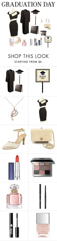 """Graduation Day"" by chauert ❤ liked on Polyvore featuring Allurez, Hervé Léger, John Lewis, Chanel, Maybelline, Bobbi Brown Cosmetics, Guerlain, Yves Saint Laurent, Charlotte Russe and Nails Inc."