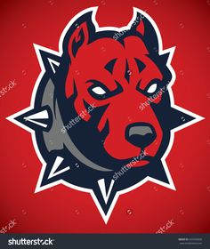 Pit Bull Dog Mascot Head Stock Vector Illustration 433456006 : Shutterstock