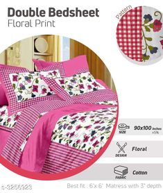 Checkout this latest Bedsheets_500-1000 Product Name: *Fancy Cotton Printed Double Bedsheets* Fabric: Bedsheet - Cotton  Pillow Covers - Cotton  Dimension: ( L X W ) - Bedsheet - 100 in x 90 in Pillow Cover - 27 in X 17 in Description: It Has 1 Piece Of Double Bedsheet With 2 Pieces Of Pillow Covers Work: Printed Thread Count: 180 Country of Origin: India Easy Returns Available In Case Of Any Issue   Catalog Rating: ★4 (315)  Catalog Name: Comfilux Fancy Cotton Printed Double Bedsheets Vol 11 CatalogID_449495 C53-SC1101 Code: 883-3256923-7221