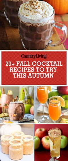Save these fall cocktail recipes for later by pinning this image and follow Country Living on Pinterest for more.