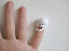 Tiny Crocheted Skull by DeweyDecimalCrafts on Etsy