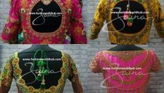 Heavy Maggam work blouse designs - 2017 Latest designs