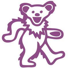Dancing Bear Greatful Dead Wall Decal Laptop by Acherryortwo, $4.99