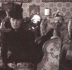 Dowager Empress Marie, and her son Tsar Nicholas II