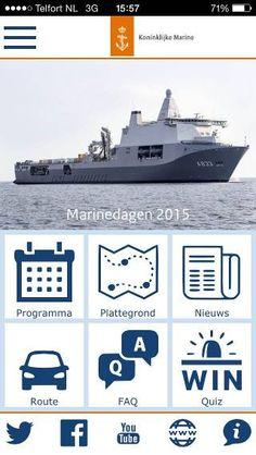 Voorbeeld van de marine-app.