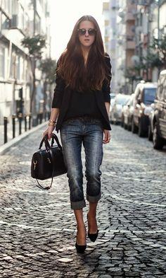 Mango Heels , Sheinside Blazer , Diesel Jeans , Persunmall Bag , WowVintage Sunglasses.