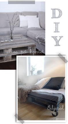 love the white washed pallet for the loungeroom. I need a new coffee table.... might give it a go this week.