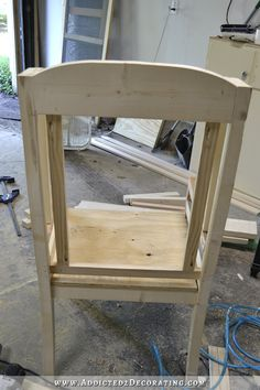 DIY wingback dining chair - how to build a frame for an upholstered chair - 26