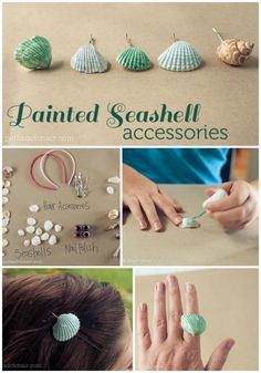 DIY Painted Seashell Accessories summer diy accessories seashells craft crafts craft ideas easy crafts diy ideas summer crafts easy diy kids crafts diy accessories cheap crafts teen crafts crafts for teens idy crafts