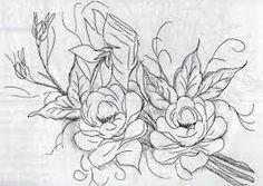 Cantinho da Jana: Riscos de rosa para pintura em tecido