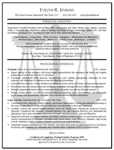 resume sample of a paralegal with excellent office management and client relation skills seeking a position within a corporate legal department - Example Of Paralegal Resume