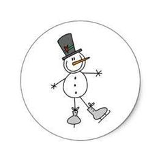 ice skating stick figure sowman