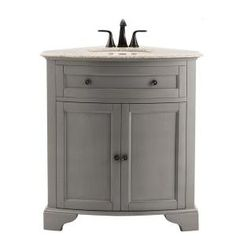 Home Decorators Collection Hamilton 31 in. Vanity in Grey with Granite Vanity Top in Beige-0567600270 at The Home Depot