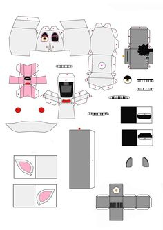 five nights at freddy's 2 the mangle papercraft P1 by Adogopaper on DeviantArt