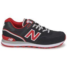 New Balance 574 Women's Black Red Ml574