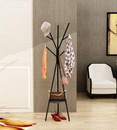 0f81db6f18f Home-Like Metal Coat Rack Hat Hanger Holder Hall Tree Hallstand Garment  Rack Clothing Rack Tree Stand Suit for Bedroom Office Hallway Entryway H  -Black)
