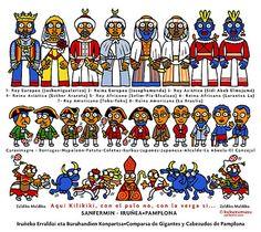 Esencia de Navarra: COMPARSA GIGANTES Y CABEZUDOS