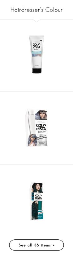 """""""Hairdresser's Colour"""" by lyra-early ❤ liked on Polyvore featuring beauty products, haircare, hair shampoo, l'oréal paris, home, home decor, office accessories, colored erasers, skincare and face care"""