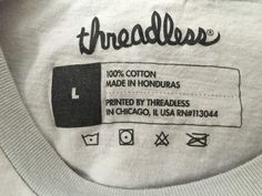 2015 Threadless Review: Super Creative T-Shirts (But Avoid This Mistake) — Medium Tag Design, Label Design, Graphic Design, T Shirt Label, Label Tag, Design Package, Printed Shirts, T Shirts, Clothing Labels