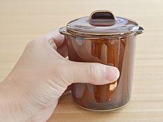 EASTオリジナルジャポネココット蓋付(アメ)(アウトレット込み)茶碗蒸し/スープカップ/オーブンウェア/デザートカップ/美濃焼/和食器/耳付きカップ