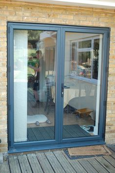 Ideas backyard layout french doors for 2019 Aluminium French Doors, Upvc French Doors, French Windows, French Doors Patio, Backyard Layout, Backyard Patio Designs, Porch Doors, Back Doors, House Windows