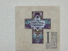 """Cross on 6"""" X 6"""" Natural Stone or Marble Tile"""