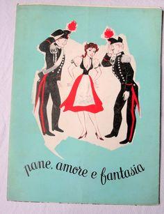 locandina libretto pane amore fantasia de sica manifesti cin | Film e DVD:Locandine e Manifesti:Film Italiani:Originali:Fil | JPEGbay.com