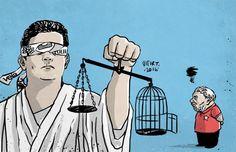 Charge: Vitor Teixeira no Lula.com.br O ex-presidente entrou com uma reclamação no Comitê de Direitos Humanos da ONU, denunciando a parcialidade do sistema judicial e investigatório brasileiro, esp…