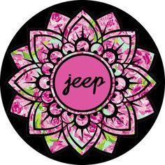 Mandala Flower Monogram by ArchandJillGraphics on Etsy Custom Tire Covers, Spare Tire Covers, Flower Mandala, Jeep Life, Future Car, Initials, Handmade Items, Monogram, Flowers