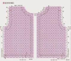 Fabulous Crochet a Little Black Crochet Dress Ideas. Georgeous Crochet a Little Black Crochet Dress Ideas. T-shirt Au Crochet, Cardigan Au Crochet, Pull Crochet, Gilet Crochet, Crochet Vest Pattern, Black Crochet Dress, Crochet Shirt, Crochet Jacket, Crochet Diagram