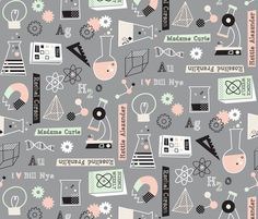 she blinded me with science! fabric by amel24 on Spoonflower - custom fabric