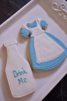 Alice in Wonderland Inspired Cookies 1 Dozen by MarinoldCakes