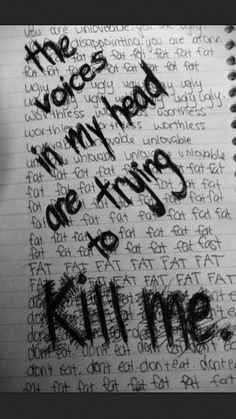 Eating disorder, depression , self harm Sad Quotes, Life Quotes, Depression Quotes, How I Feel, Mental Illness, In My Feelings, Deep Thoughts, It Hurts, Mindfulness