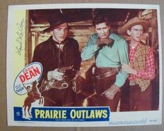 PRAIRIE OUTLAWS~11X14  VINTAGE LOBBY CARD~ORIGINAL~1948~SIGNED LASH LARUE