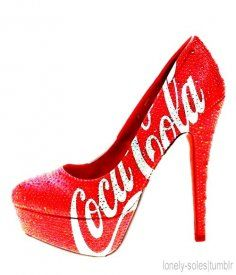 coca-cola high heels is very nice! Don't have in my Cola Collection, but would love to have it! Hot Shoes, Crazy Shoes, Me Too Shoes, Shoes Heels, Crazy High Heels, Women's Pumps, Shoes Sneakers, Coca Cola, Spike Heels