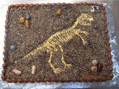 dinosaur fossil cake