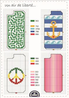 Anchor with stripe back ground Beaded Bookmarks, Cross Stitch Bookmarks, Cross Stitch Love, Cross Stitch Designs, Cross Stitch Patterns, Loom Beading, Beading Patterns, Cross Stitching, Cross Stitch Embroidery