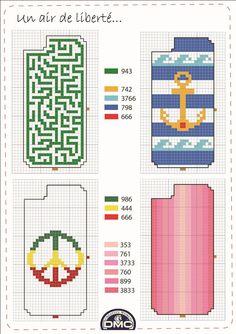 El blog de Dmc: Novedad: Fundas de iphone para bordar en punto de cruz