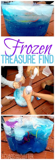 Frozen Treasure Find - This keeps the kids occupied for hours!