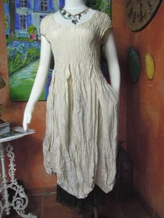 """Privatsachen - Cocon Commerz Kleid """"Zeugender"""" aus Seide, Size 3 #nachhaltig seit 1984 #seide #leinen #linen #silk #handgefärbt  #shibori #hand-dyed"""
