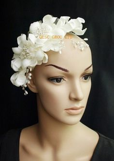 Aliexpress.com : Buy NEW Ivory Bridal fascinator headpiece with Beads,rhinestone &pearls Wedding and Bridal Accessories. from Reliable bridal fascinator suppliers on QESC GROUP LTD