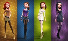 4 Girls - Modelado 3D de Carlos Ortega Elizalde