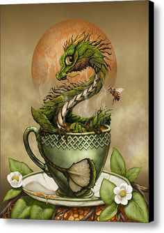 Tea Dragon Canvas Print / Canvas Art By Stanley Morrison