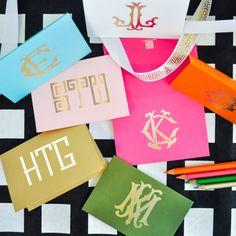 Emily McCarthy Personalized Monogram Folded Notecards