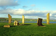 The Standing Stones of Stenness, Orkney, Scotland. 4,000 - 5,000 years old.