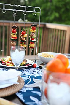 Display your grilled kabobs in style--vertically!