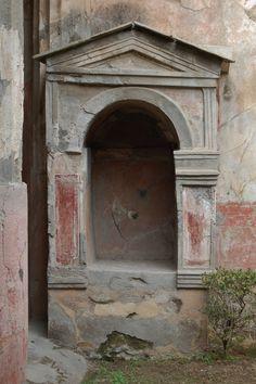 Pompeii  lararium shrine for the household gods