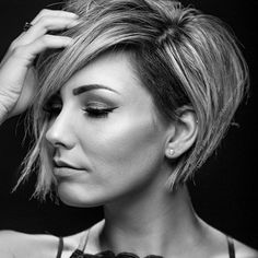Todays 200 Asymmetrical Short Hair Pixie Haircut waiting your action on our web page. Mom Hairstyles, Pretty Hairstyles, Shaved Side Hairstyles, Short Hair Cuts, Short Hair Styles, Haircut And Color, Great Hair, Pixies, Hair Today