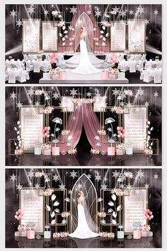 Pink light luxury simple European theme wedding renderings#pikbest#decors-models Sign Design, 3d Design, Wedding Stage Design, European Wedding, Pink Light, Wedding Decorations, Luxury, Simple, Models