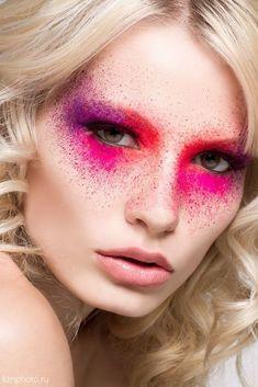 Color splash make up colorful makeup, makeup, makeup art. Makeup Art, Beauty Makeup, Hair Makeup, Hair Beauty, Makeup Ideas, Makeup Inspo, Runway Makeup, Catwalk Makeup, Face Paint Makeup